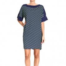 Orion London 3/4 sleeves jersey printed dress