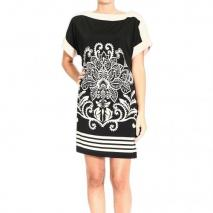 Orion London Short sleeve jersey printed dress
