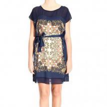 Orion London Short sleeve printed dress + belt