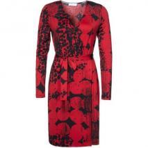 Oui Jerseykleid black/red