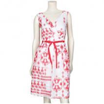 Oui Kleid Weiß Rot