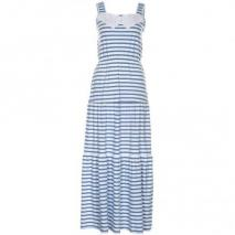 Oui Maxikleid white blue
