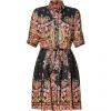 Paul & Joe Black Multicolor Belted Marmande Dress
