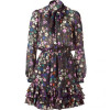 Paul & Joe Multi Color Floral Printed Silk Dress