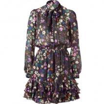 Paul & Joe Multi Color Floral Printed Silk Dress