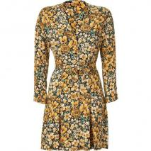 Paul & Joe Ochre Floral Belted Callas Dress