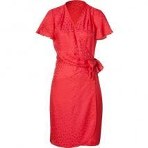 Paul & Joe Red Draped Silk Dress