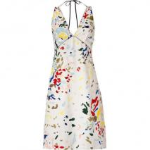 Paul Smith White Multicolor Halter Dress