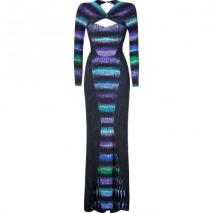 Peter Pilotto Blue/Purple Cut Out Gown
