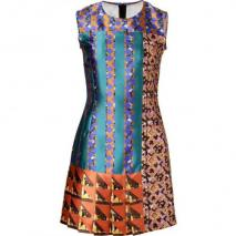 Peter Pilotto Petrol Multi Printed Silk Dress