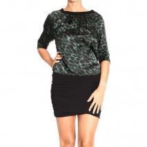 Pinko Dress Green Black