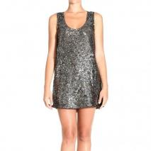 Pinko Dress Silber Pailletten