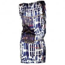 Pinko Kleid Bikini blau/weiß