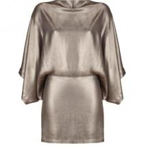 Plein Sud Matte Bronze Silk Dress