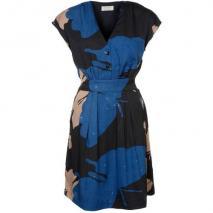 Privée Jerseykleid schwarz/ blau