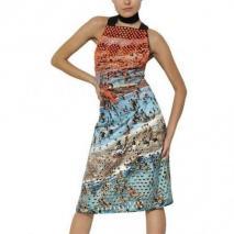 Proenza Schouler Bedrucktes Seiden Duchess Kleid Mit Nieten