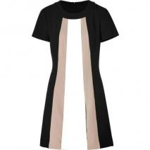 Rachel Zoe Black-Multi Crepe Andi Dress
