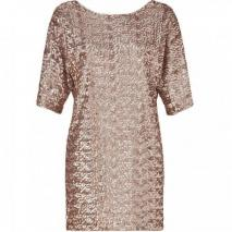 Rachel Zoe Nude Sequined Tinsley Dress