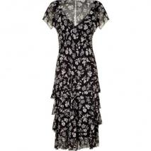 Ralph Lauren Rive Gauche Floral Printed Silk Georgette Dress