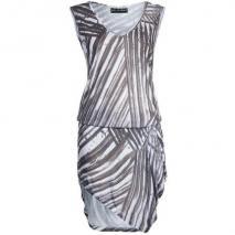 Religion Striped Jerseykleid white