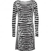 Replay Jerseykleid schwarz/weiß