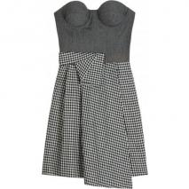 Richard Nicoll Cashmere Blend Bustier Dress