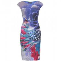 Roberto Cavalli Kleid Mit Digitalprint