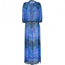 Roberto Cavalli Peacock Printed Silk Gown