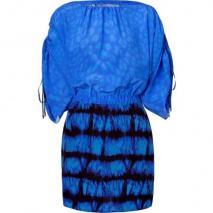 Roberto Cavalli Peacock Silk Dress