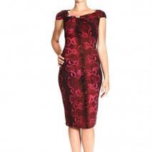 Roberto Cavalli Sleeveless curled jewel multi python print dress