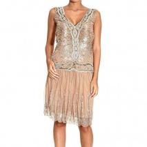 Roberto Cavalli Sleeveless v neck embroideries appliques dress