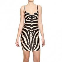Roberto Cavalli Zebra Bedrucktes Kompaktes Lycra Kleid