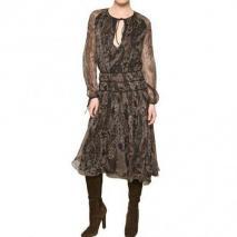 Salvatore Ferragamo Bedrucktes Seiden Chiffon Kleid