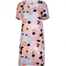 See by Chloé Multicolor Puff Sleeve Kleid
