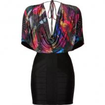 Sky Black/Multi Schuyler Dress