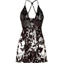 Sky Black/Pearl Printed Mini Dress