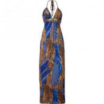 Sky Blue/Ecru Animal Print Mayarita Dress