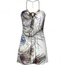 Sky Ivory Neck Holder Mini Dress