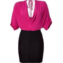 Sky Pink/Black Dolman Dress