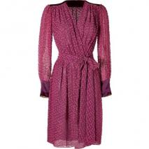 Sophie Theallet Plum Blossom Cotton-Silk Belted Wrap Dress