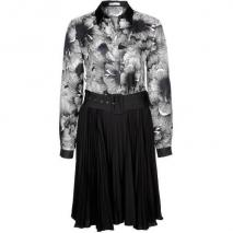 Stefanel Blusenkleid schwarz/weiß