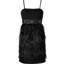 Steffen Schraut Black Charlotte Feather Dress