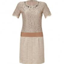Steffen Schraut Desert Lace Mixed-Media Manhattan Dress