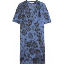 Stella McCartney Seidenkleid Mit Animalprint
