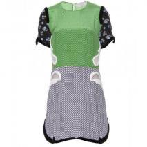 Stella McCartney Seidenkleid Mit Verzierten Borten