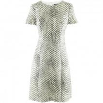 Strenesse Cream Black Pattern Dress