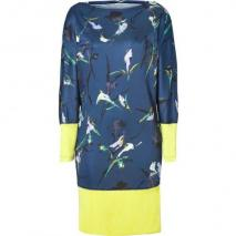 Suno Navy-Multi Dolman Sleeve Jersey Dress