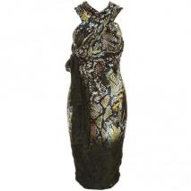 Supertrash Jerseykleid dipped snake