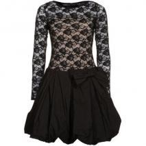 Swing Cocktailkleid / festliches Kleid black/beige