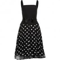 Swing Cocktailkleid / festliches Kleid schwarzweiß